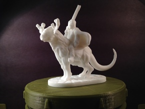 Taiga Strider (28mm/Heroic scale miniature) in White Strong & Flexible Polished