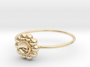 Size 6 Shapes Ring S5 in 14k Gold Plated Brass