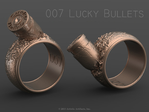 007 Lucky Bullets -Size 6.5 in Raw Brass