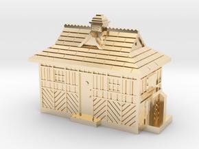 TT Gauge Cabmens Shelter  in 14k Gold Plated Brass