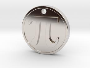 PI Pendant in Rhodium Plated Brass