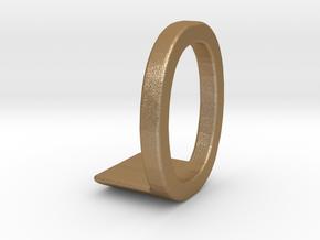 Two way letter pendant - LO OL in Matte Gold Steel