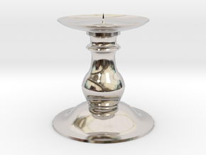 Candle Holder 2 in Rhodium Plated Brass