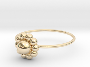 Size 6 Shapes Ring S3 in 14k Gold Plated Brass