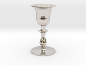 Chalice in Rhodium Plated Brass