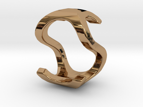 Two way letter pendant - OS SO in Polished Brass