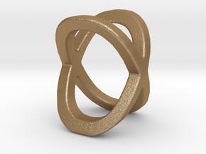 Two way letter pendant - OX XO in Matte Gold Steel