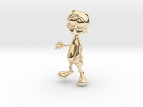 Toon Alien in 14k Gold Plated Brass