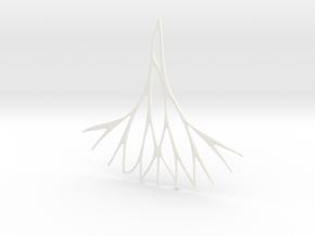 Fractal Earring / Pendant v.3  in White Processed Versatile Plastic