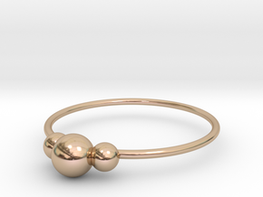 Size 8 Shapes Ring S2 in 14k Rose Gold Plated Brass