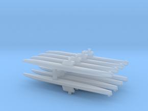 Romeo-Class/Type 033 Submarine x 8, 1/2400 in Smooth Fine Detail Plastic