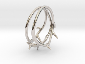 Thorn Ring No. 2 in Rhodium Plated Brass: 5 / 49