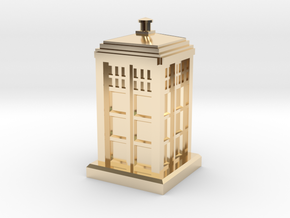 N Gauge - Police Box  in 14k Gold Plated Brass