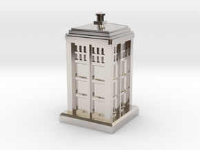 N Gauge - Police Box  in Rhodium Plated Brass