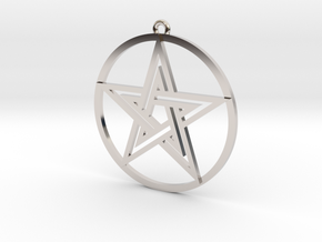 Pentacle Pendant in Rhodium Plated Brass