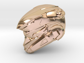 Anubis 1/6 Scaled helmet in 14k Rose Gold Plated Brass