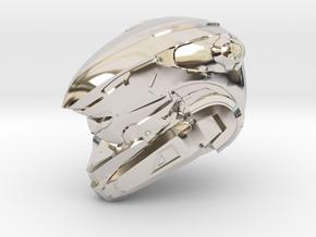 Anubis 1/6 Scaled helmet in Rhodium Plated Brass