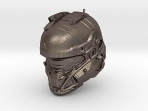 Halo 5 Tanaka/Technician 1/6 scale Helmet in Polished Bronzed Silver Steel