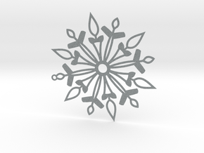 Snowflake in Polished Metallic Plastic