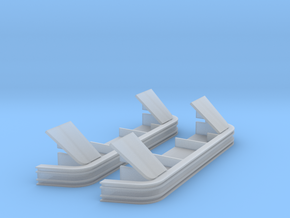 AC0002 CN Anti-climber Low Bottom Plates 1/87.1 in Frosted Ultra Detail