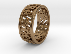 Andy Ring 17.5mm Ring Size 7.25 in Natural Brass