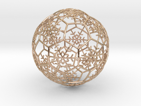 iFTBL Xmas Snow Ball / The One - Ornament 60mm in 14k Rose Gold Plated Brass