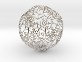 iFTBL Xmas Snow Ball / The One - Ornament 60mm in Rhodium Plated Brass