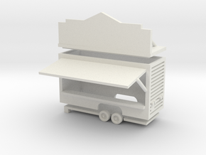 Gametrailer - 1:160 (N scale) in White Natural Versatile Plastic