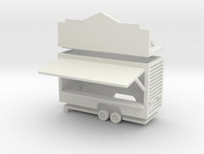 Gametrailer - 1:160 (N scale) in White Strong & Flexible