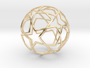 iFTBL Ornament / Star Ball - 40 mm in 14k Gold Plated Brass