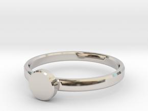 Custom Initial circle ring size 4.7 in Platinum