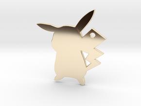Pikachu Pendant in 14K Yellow Gold