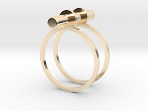 Cerc - Size 6 US in 14k Gold Plated Brass