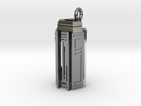 Key Locker Pendant (1.75 inch) in Fine Detail Polished Silver