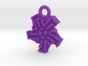 Ingress Heat Sink Pendant (1 inch) in Purple Processed Versatile Plastic