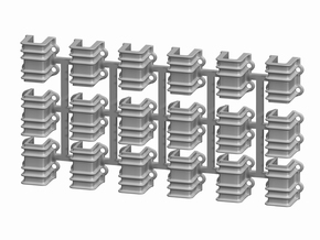 On3 D&RGW 6200 Stake Pockets, set of 18 in Smooth Fine Detail Plastic