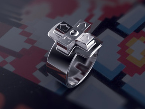 NES D-pad Ring in Natural Silver