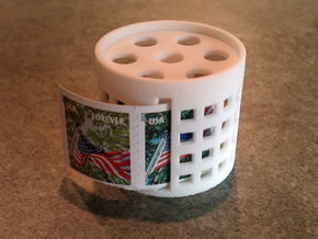 *stamp roll dispenser The Postmaster 1 in White Strong & Flexible