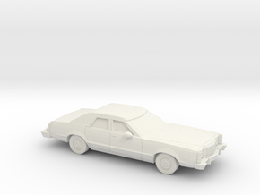 1/87 1977-79 Ford LTD II Sedan in White Natural Versatile Plastic
