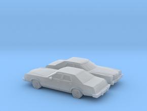 1/160 2X 1977-79 Ford LTD II Sedan in Smooth Fine Detail Plastic