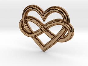 Polyamory Charm in Polished Brass