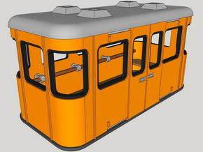 1:87 Gondola for a furnicular / Seilbahngondel in Smooth Fine Detail Plastic