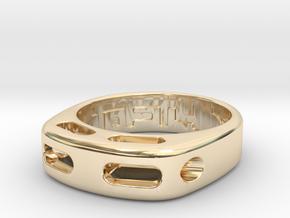 US7 Ring XX: Tritium in 14K Yellow Gold