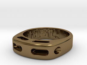 US7 Ring XX: Tritium in Polished Bronze