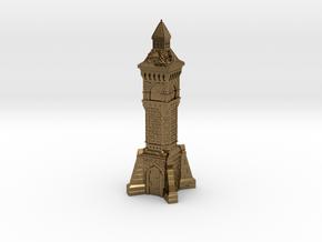 N Gauge Victorian Clock Tower in Polished Bronze