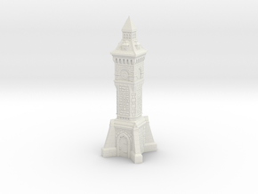 N Gauge Victorian Clock Tower in White Natural Versatile Plastic
