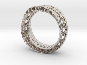 Twistedbond ring 21.2mm in Platinum