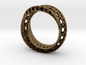 Twistedbond ring 21.2mm in Polished Bronze
