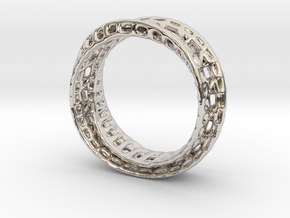 Twisted Bond Ring 18,5mm in Platinum