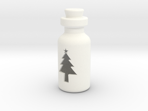 Small Bottle (Christmas Tree) in White Processed Versatile Plastic